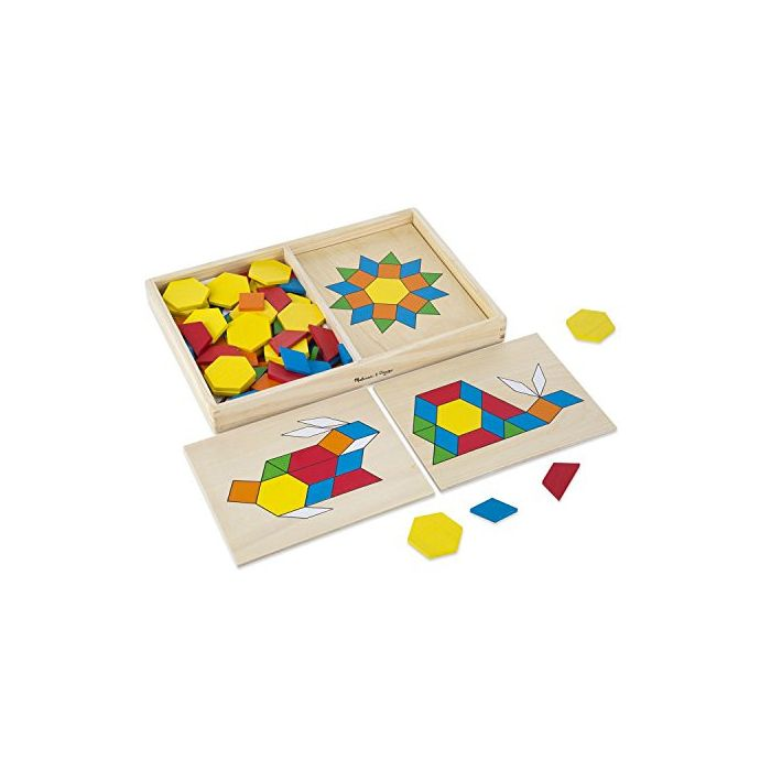 Melissa & Doug Pattern Blocks and Boards - Classic Toy ...