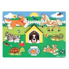 Melissa & Doug - Pets Wooden Peg Puzzle (8 pcs)