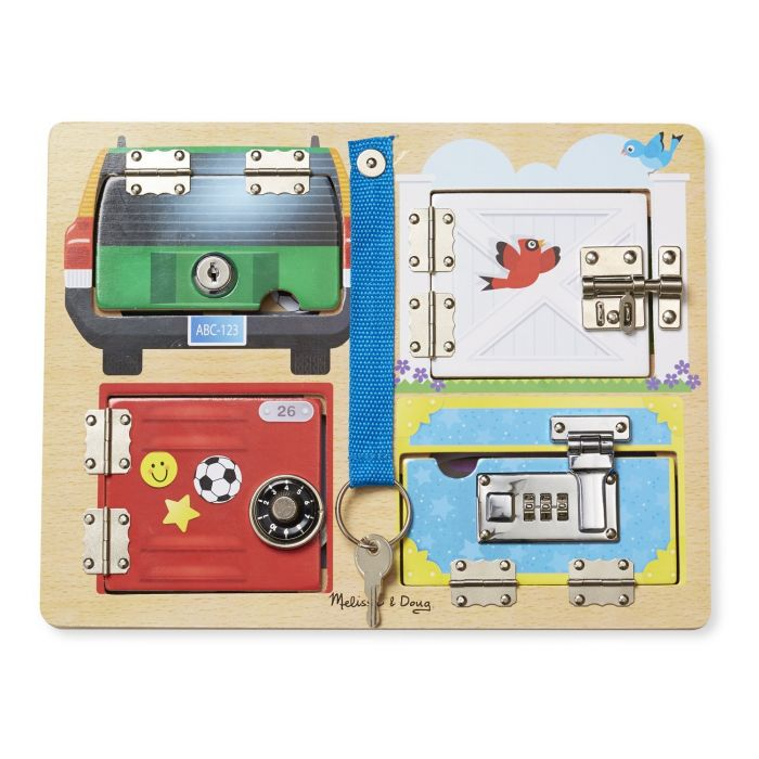 Melissa & Doug - Locks and Latches Board Wooden Educational Toy