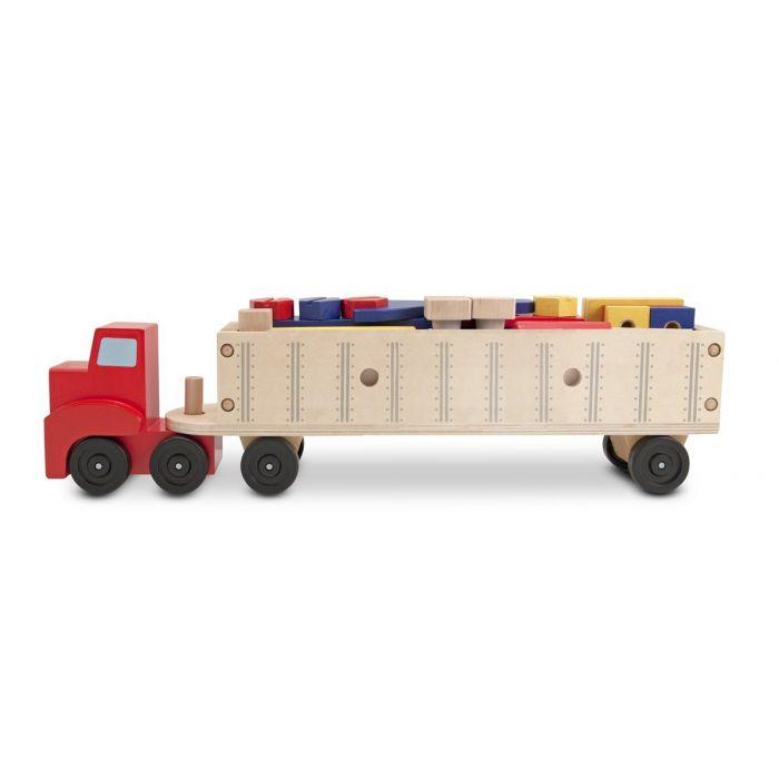 Melissa & Doug - Big Rig Truck Wooden Building Set (22 pcs)