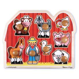 Melissa & Doug - Farm Friends Large Wooden Peg Puzzle