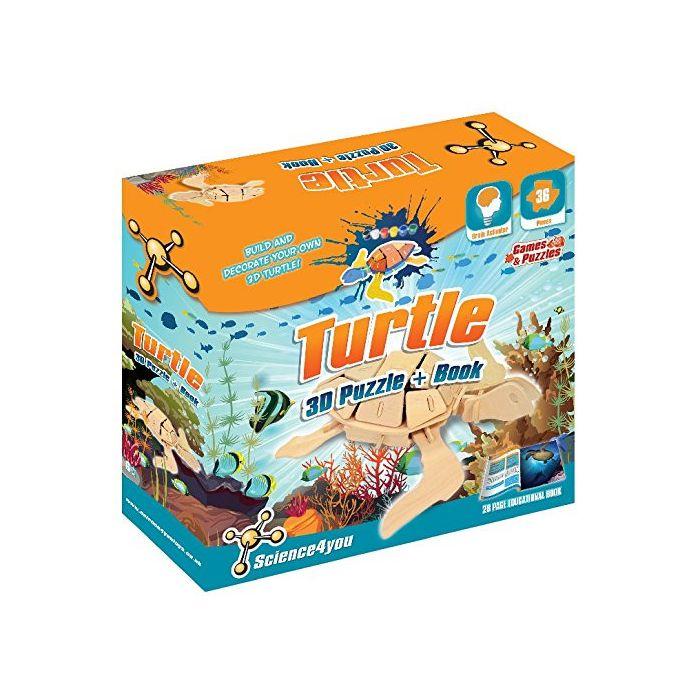 Turtle 3D Puzzle Plus Book