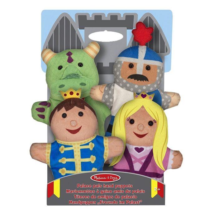 Melissa & Doug - Palace Pals Hand Puppets (Set of 4) - Prince, Princess, Knight, and Dragon