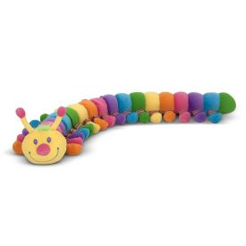 Melissa & Doug - Longfellow Caterpillar - Rainbow-Colored Stuffed Animal With 32 Floppy Feet (over 0.5 meters long)