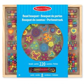 Melissa & Doug - Bead Bouquet Deluxe Wooden Bead Set With 220+ Beads for Jewelry-Making