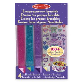 Melissa & Doug - Design-Your-Own Bracelets With 100+ Sparkle Gem and Glitter Stickers