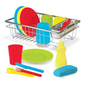 Melissa and Doug - Let's Play House Wash and Dry Dish Set