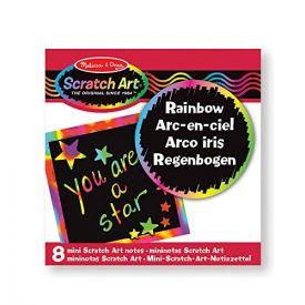 Melissa & Doug - Rainbow Mini Scratch Art Notes in Display