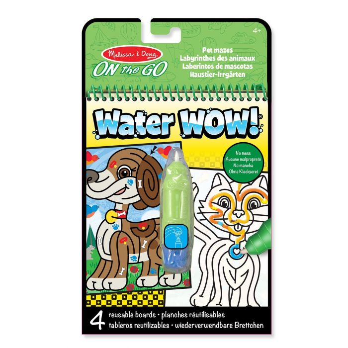 Melissa & Doug - On the Go Water Wow! Water-Reveal Activity Pad - Pet Mazes