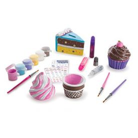 Melissa & Doug - Decorate-Your-Own Sweets Set Craft Kit: 2 Treasures Boxes and a Cake Bank