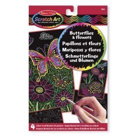 Melissa & Doug - Scratch Art Activity Kit: Butterflies and Flowers