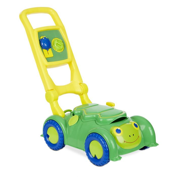 Melissa & Doug Sunny Patch Snappy Turtle Lawn Mower - Pretend Play Toy for Kids