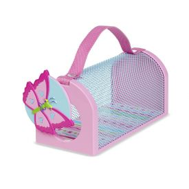 Melissa & Doug Sunny Patch Cutie Pie Butterfly Bug House Toy With Carrying Handle and Easy-Access Door