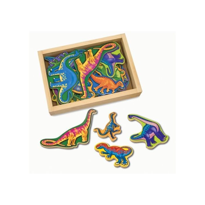 Melissa and Doug Magnetic Wooden Dinosaurs