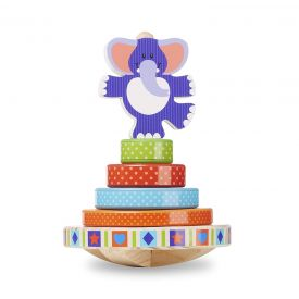 Melissa & Doug Elephant First Play Wooden Rocking Stacker