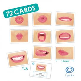 Logo-Bits Cards For Oral Motor Speech Therapy