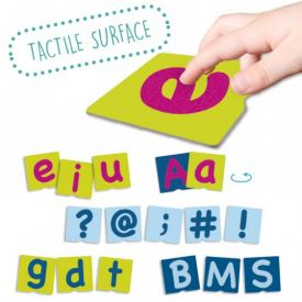 Tactile Letter Cards With Punctuation Signs
