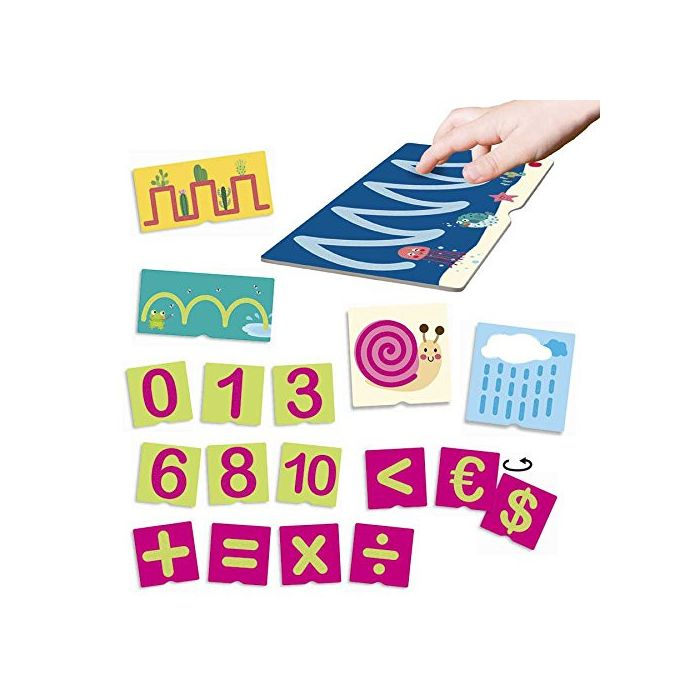 Tactile Number Cards Game for Pre-Writing the Senses