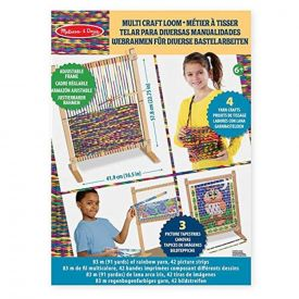Melissa and Doug Wooden Multi-Craft Weaving Loom