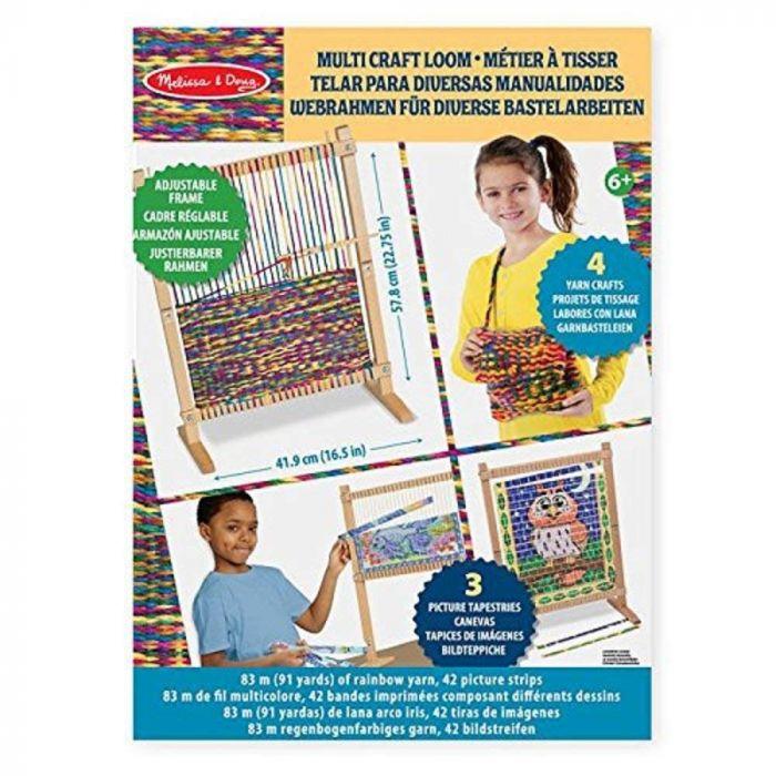 Melissa and Doug Wooden Multi-Craft Weaving Loom
