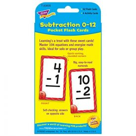 Subtraction Pocket Flash Cards