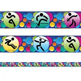 Sports Classroom Display Borders / Trimmers. Packs of 12 metres.