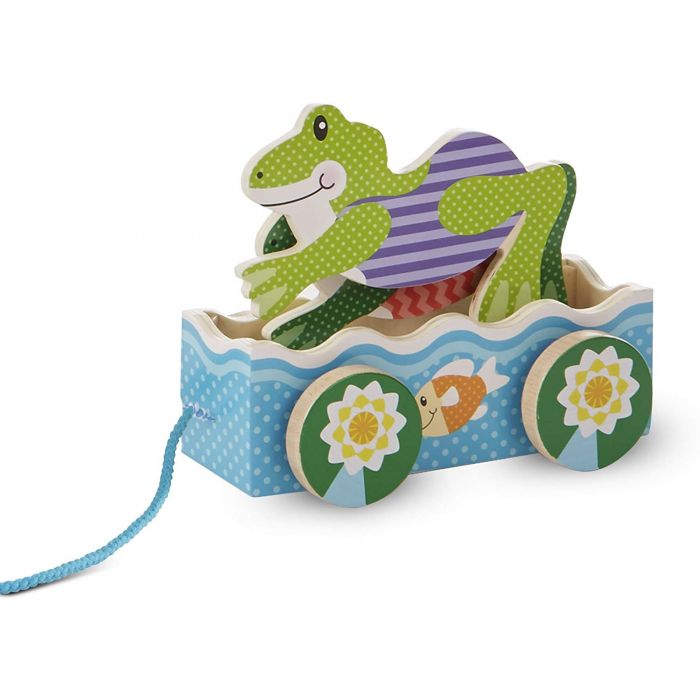 Melissa and Doug First Play Friendly Frogs Wooden Pull Toy