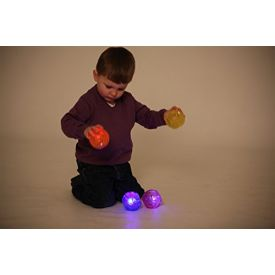 Sensory Flashing Ball Colours May Vary Green,Pink,Blue,Yellow,Red