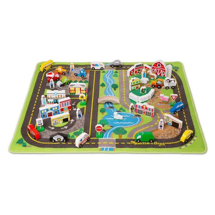 Melissa and Doug Deluxe Activity Road Rug Set