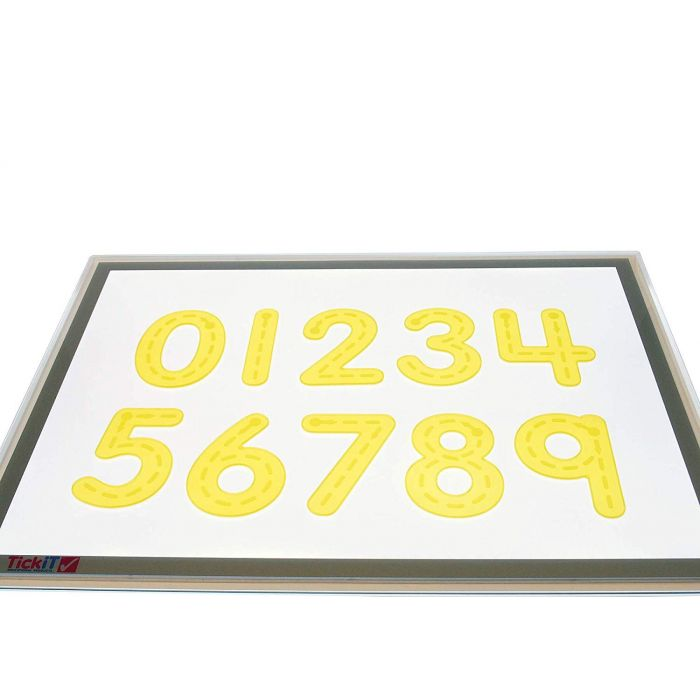 Silishapes Trace Number, Yellow (Pack of 10)