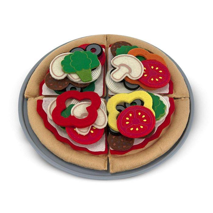 Melissa & Doug Felt Food Mix 'n Match Pizza Play Food Set