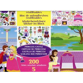 Melissa and Doug Reusable Sticker Pad: Princess Castle - 200+ Stickers and 5 Scenes