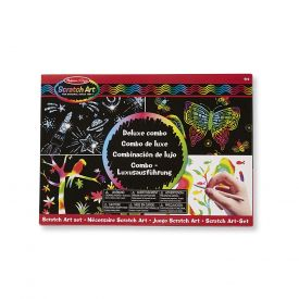 Melissa and Doug Deluxe Combo Scratch Art Set with 16 Boards, 2 Stylus Tools, 3 Frames