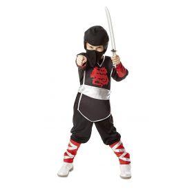 Melissa AND Doug Ninja Role Play Costume Set (4 pcs) - Tunic, Trousers, Hood, Soft Sword