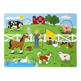 Melissa and Doug Old Macdonald's Farm Sound Puzzle (8 Piece)