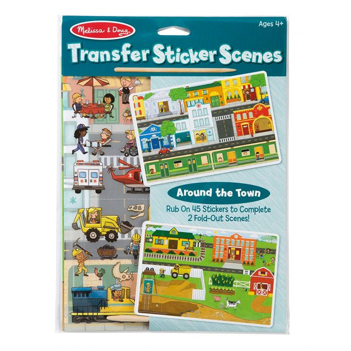 Melissa and Doug Transfer Sticker Scenes - Around The Town