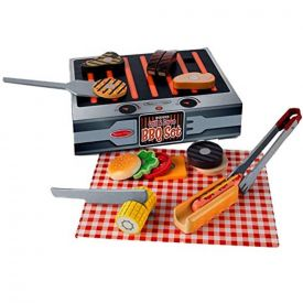 Melissa and Doug Wooden Grill & Serve BBQ Set
