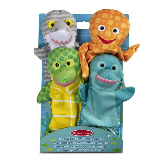 Melissa and Doug Sea Life Friends Hand Puppets (Set of 4)