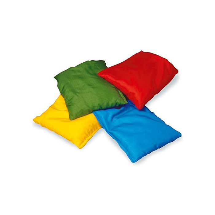 Colour Bean Bags-Set of 4-RED, Blue, Green, Yellow