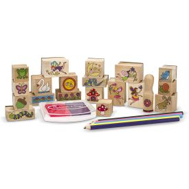 Melissa and Doug Stamp a Scene Stamp Set Fairy Garden