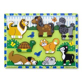 Melissa and Doug Pets Wooden Chunky Puzzle