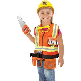 Melissa and Doug Construction Worker Role-Play Costume Set