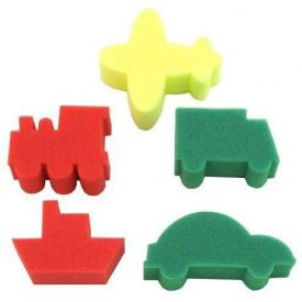 Transport Sponge Painting Set (Pack of 5)