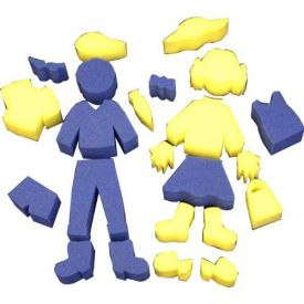 Sponge Painting Skill Sponges - People