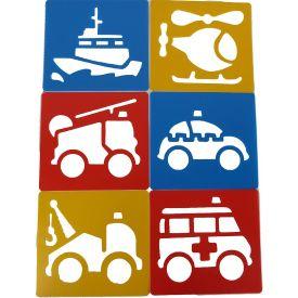 Emergency Services Stencils (Set of 6)