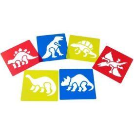 Dinosaur Themed Washable Reusable Stencils (set of 6)