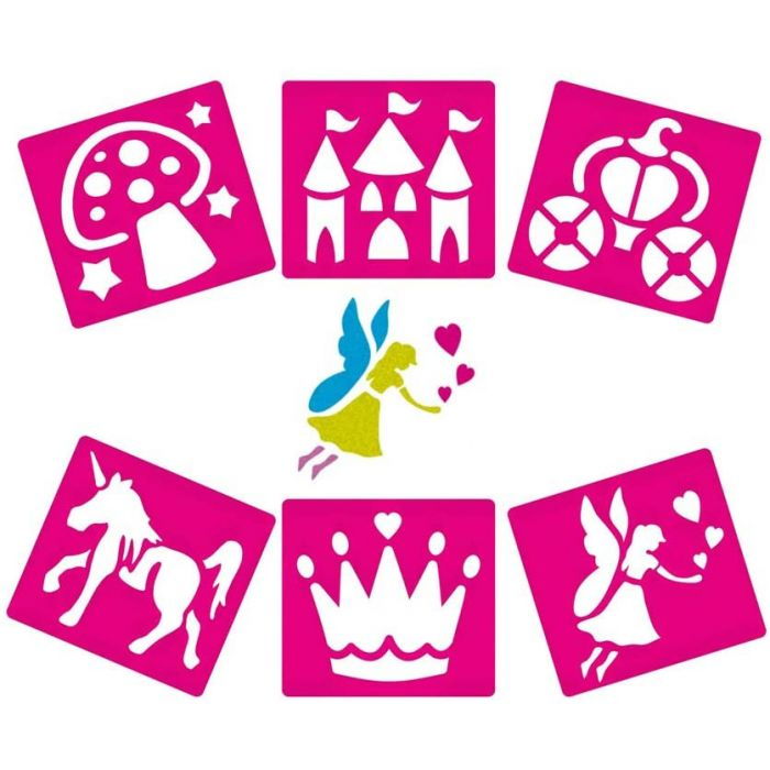 Fairy Themed Washable Stencils (Pack of 6)