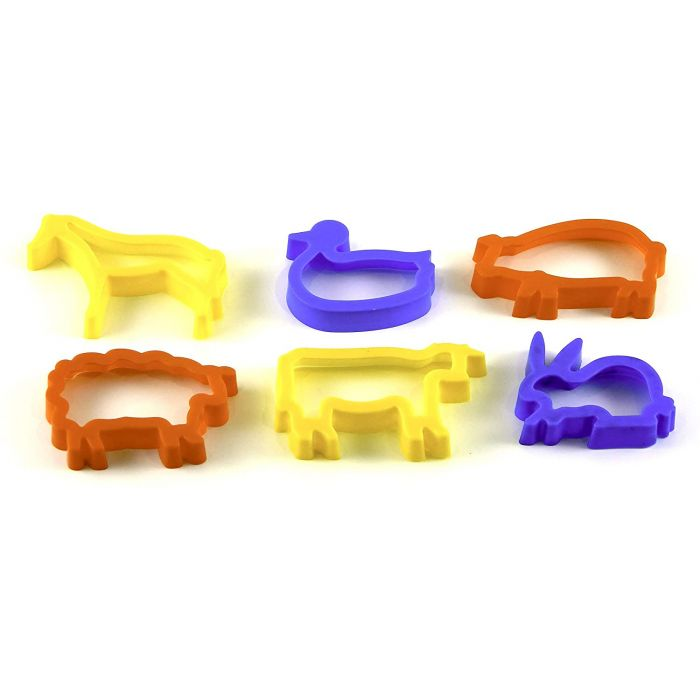 Farm Animal Dough Cutters (Pack of 6)
