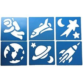 Space Themed Washable Stencils (set of 6)
