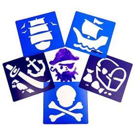 Pirate Stencils (Pack of 6)